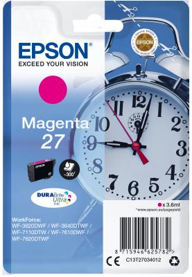 Epson Singlepack Magenta 27 DURABrite Ultra Ink