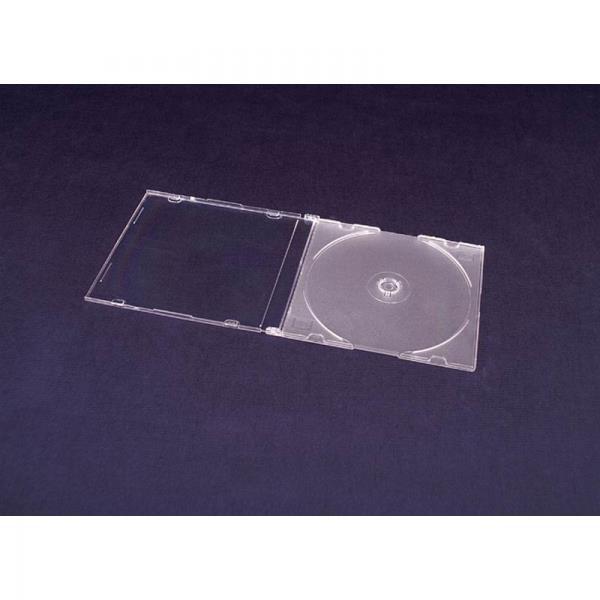 Esperanza Plastové krabičky na 1 CD/DVD   200 ks, transparentní matné