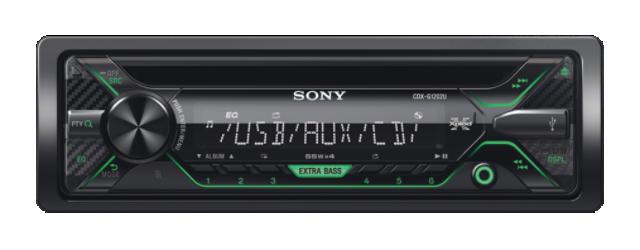 SONY CDX-G1200U Přehrávač CD, USB, AUX vstup - GREEN