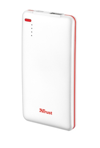 TRUST PowerBank 4000T Thin Portable Charger - white