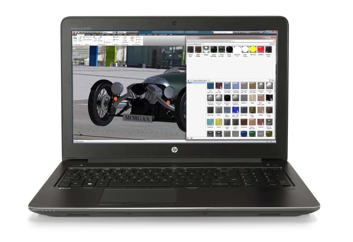 HP Zbook 15 G4 i7-7700HQ / 2x4GB DDR4 / 256GB SATA-3 m.2 / 15,6'' FHD / Quadro M620 2GB / Win 10 Pro