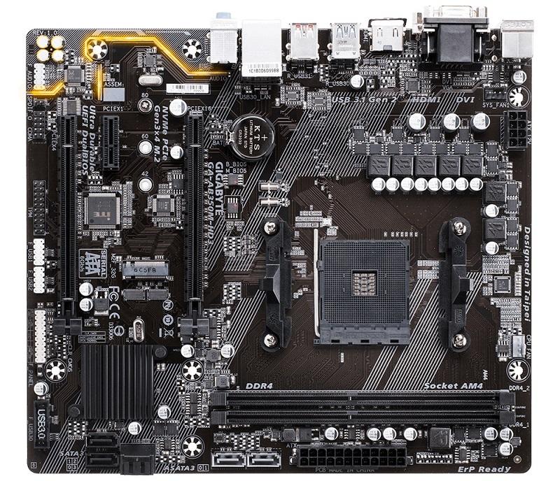 GIGABYTE MB Sc AM4 AB350M-HD3, AMD B350, 2xDDR4, VGA, mATX