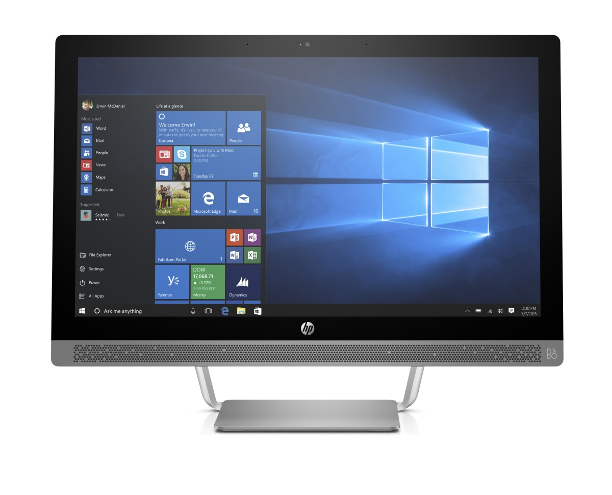 HP ProOne 440 G3 i3-7100T / 4GB / 500 GB / Intel HD 630 / 23,8'' FHD IPS / Win 10 Pro
