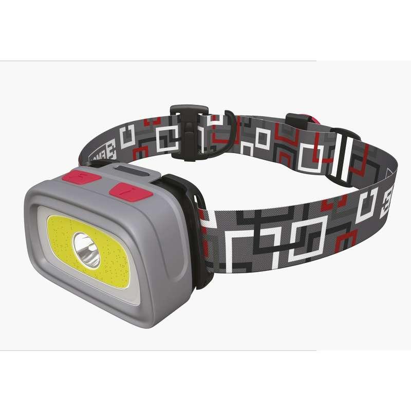 Emos LED svítilna čelovka E1801, 1x CREE XPG + 1x COB LED + červená zadní LED, 3x AAA + 1x CR2032, píšťalka