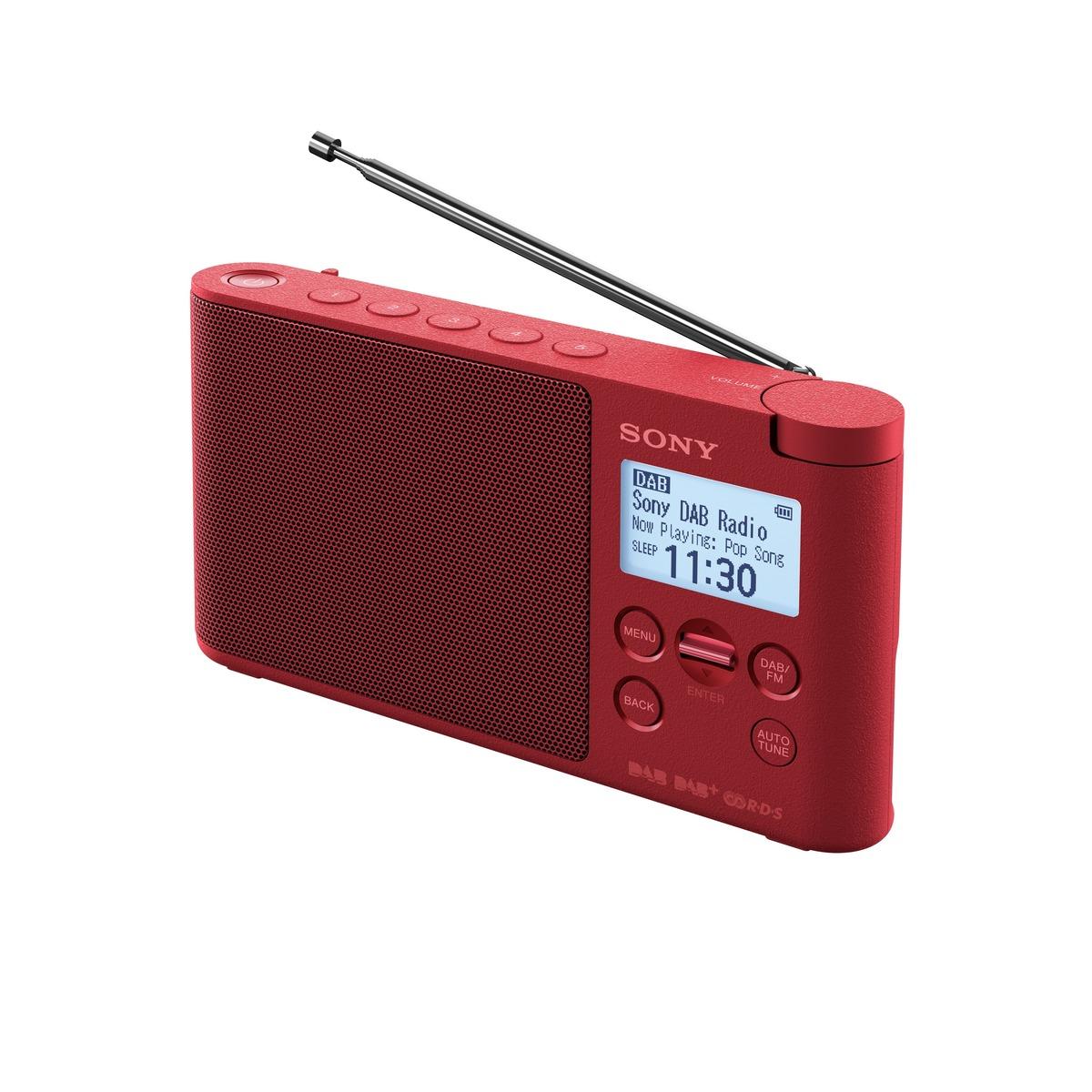 SONY XDRS-41DR Lehké a přenosné DAB/DAB+/FM rádio Red