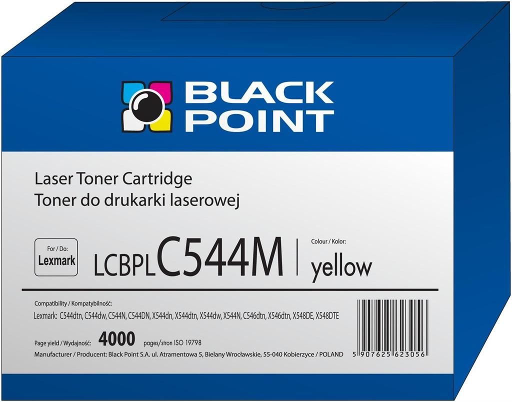 Toner Black Point LCBPLC544Y | yellow | 4000 pp | Lexmark | C544X1YG