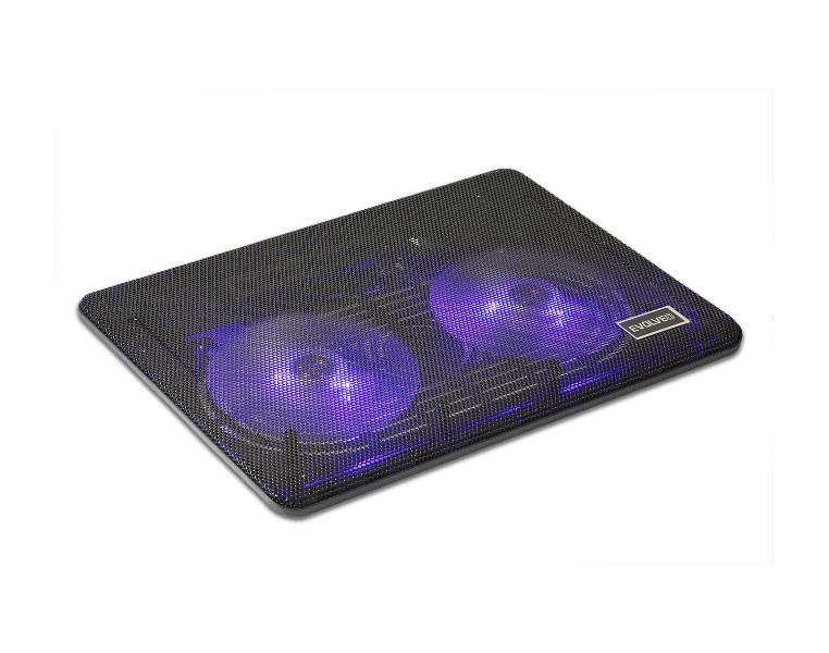 """EVOLVEO 007, chladicí podstavec pro notebook, pro ntb až 16"""", 2x ventilátor, podsvícení, USB"""