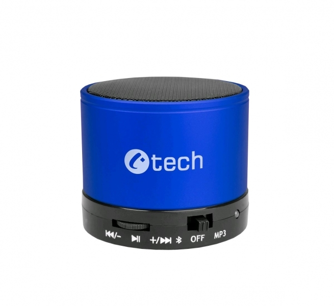 C-TECH reproduktor SPK-04L, bluetooth, handsfree, čtečka micro SD karet/přehrávač, FM rádio, modrý