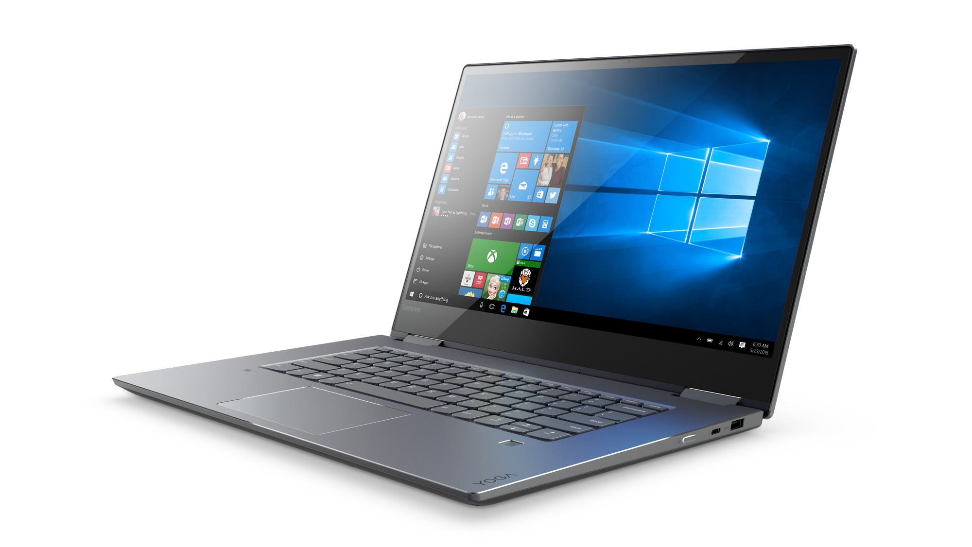 "Lenovo YOGA 720-15IKB i7-7700HQ 3,80GHz/16GB/SSD 512GB/15,6"" 4K/IPS/AG/multitouch/GeForce 4GB/WIN10 PRO šedá 80X70074CK"