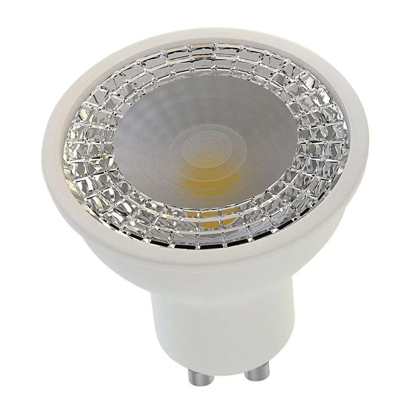 Emos LED žárovka MR16, 7.5W/45W GU10, 60°, WW teplá bílá, 560 lm, stmívatelná (pro stmívač), Premium A+