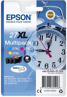 EPSON cartridge T2715 (cyan/magenta/yellow) multipack (budík) XL