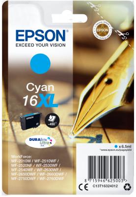 Epson Singlepack Cyan 16XL DURABrite Ultra Ink
