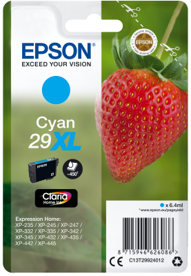 Epson Singlepack Cyan 29XL Claria Home Ink