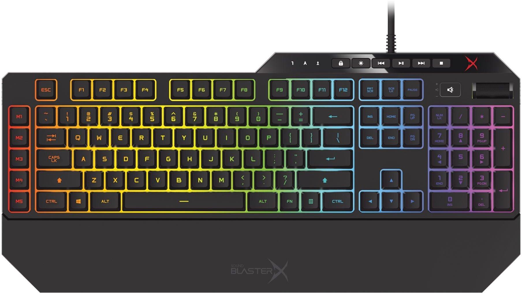 Creative Sound BlasterX Vanguard K08 SE - gamingová klávesnice, volitelné podsvícení