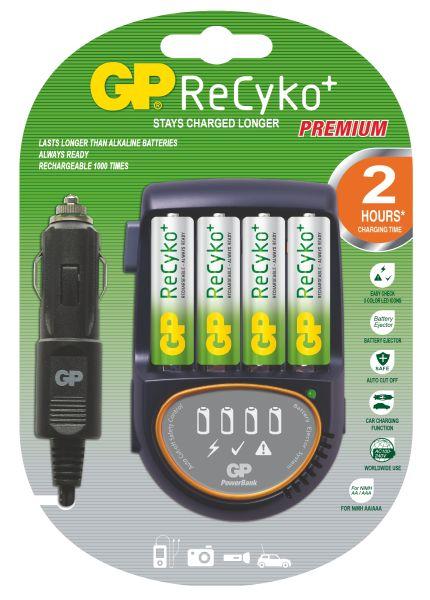 GP PowerBank 50 nabíječka (PB50) + 4x AA Recyko+, 2hod.