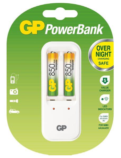 Nabíječka baterií GP PB410 + 2AAA NiMH850