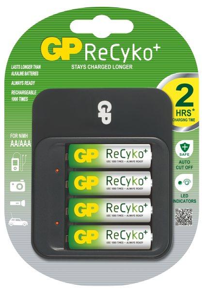 GP PowerBank 550 nabíječka (PB550) + 4x AA 2100 mAh Recyko+, 2-5hod.