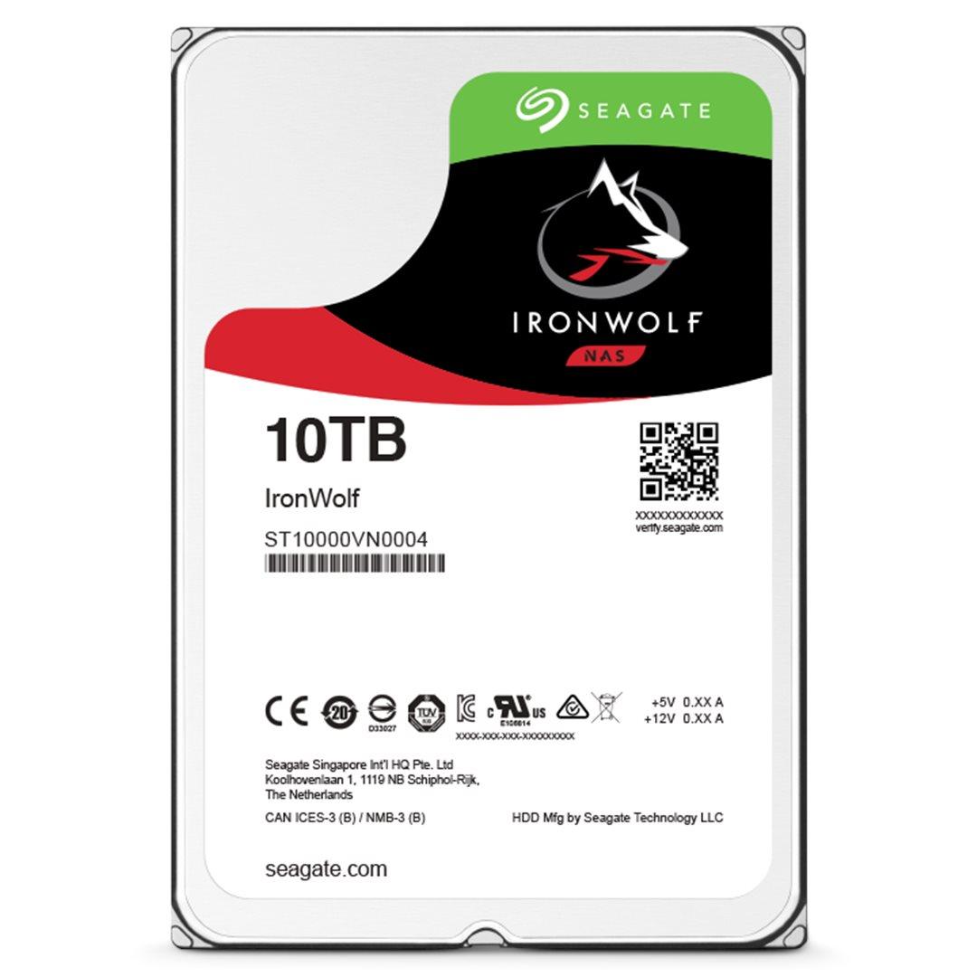 "Seagate IronWolf, NAS HDD, 10TB, 3.5"", SATAIII, 256MB cache, 7.200RPM"
