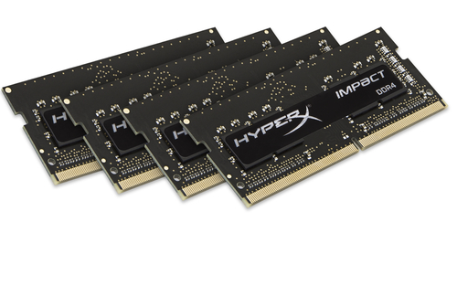 Kingston DDR4 32GB (Kit 4x8GB) HyperX Impact SODIMM 2400MHz CL15 černá