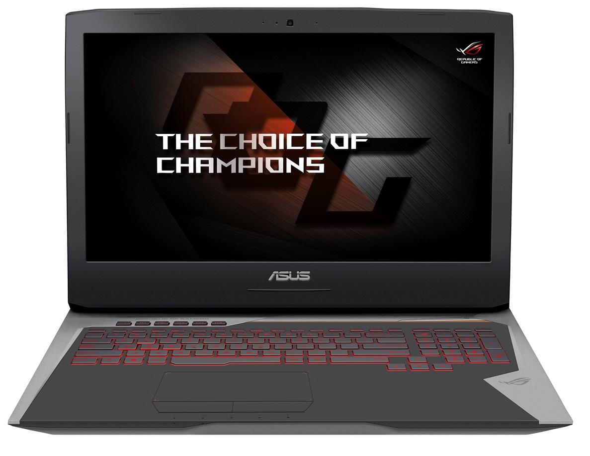 """ASUS G752VS-BA163T i7-6700HQ/32G/1T/7200 + 512G SSD PCIE/DVD-RW/17,3"""" FHD/GTX1070M 8G/W10/šedý"""