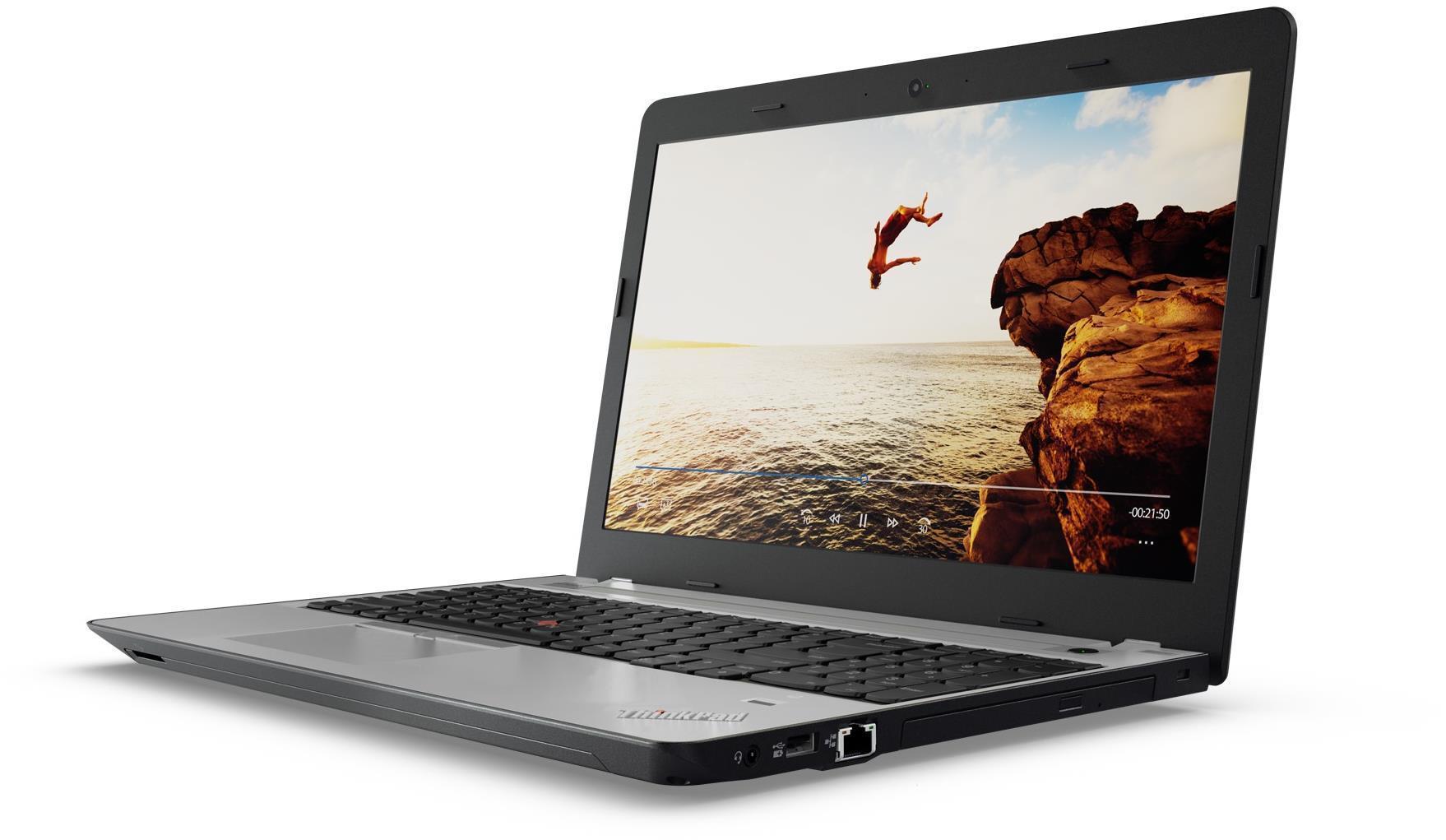 """Lenovo ThinkPad E570 i7-7500U/8GB/256GB SSD/DVD±RW/GeForce GTX 950MX 2GB/15,6""""FHD matný/Win10 černo-stříbrný"""