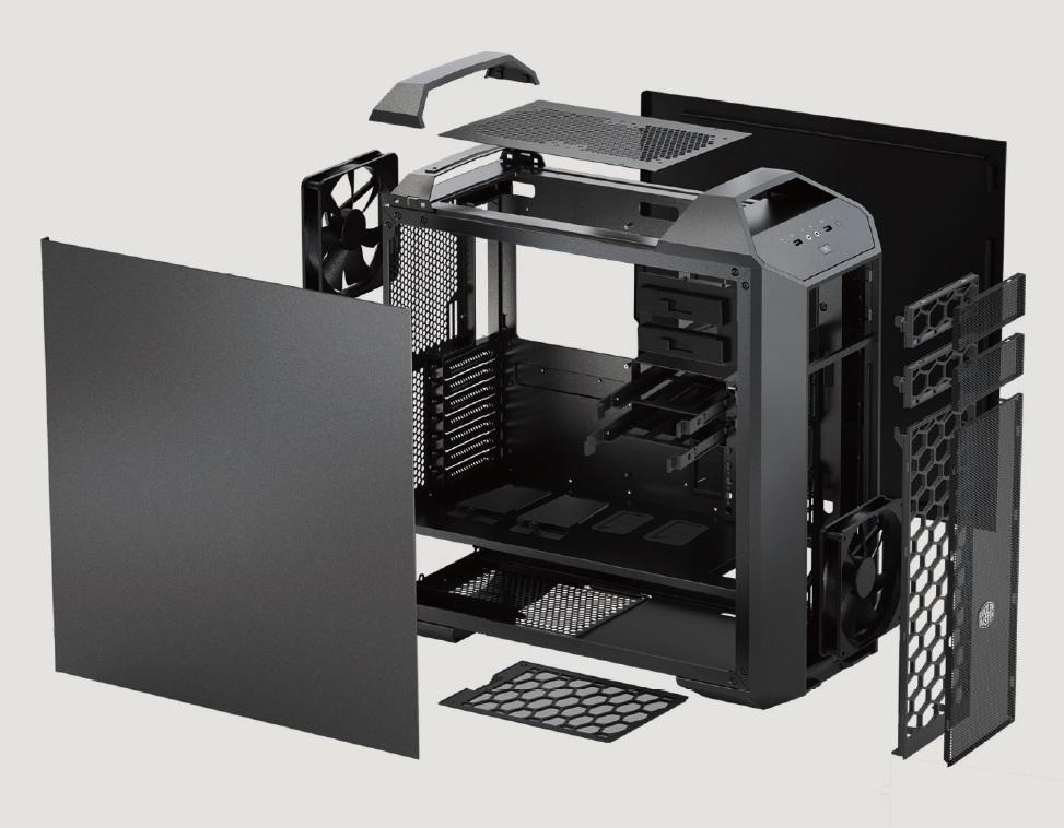 CoolerMaster case miditower modular series Master Case 5, ATX,black, USB3.0, bez zdroje