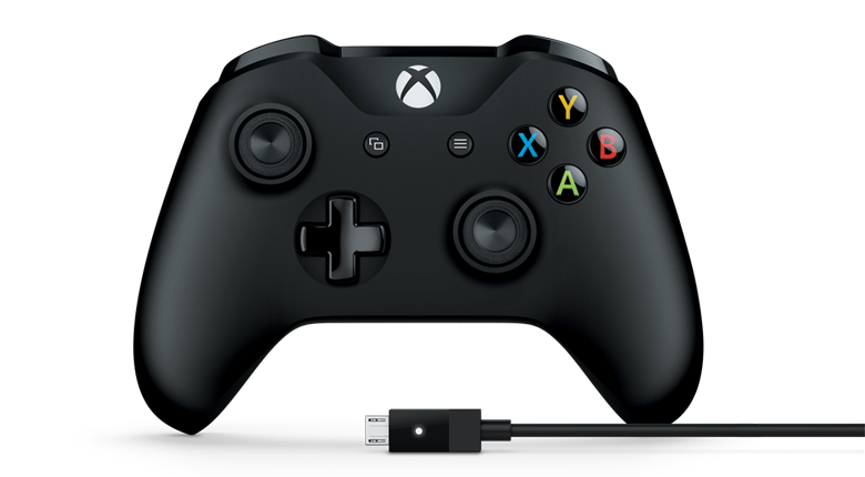 XBOX ONE S Wireless Controller Black + kabel pro Windows