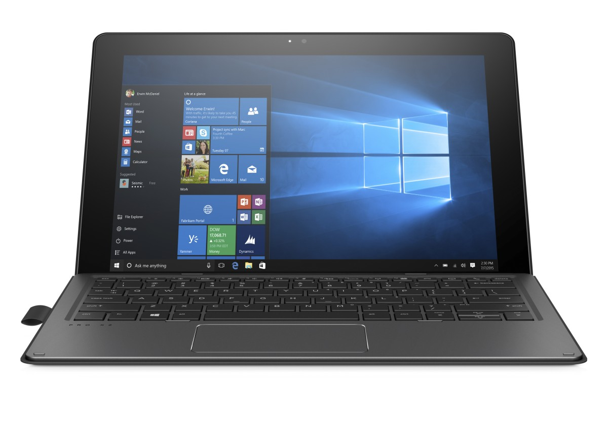 HP Pro x2 612 G2 12,5 M-7Y30/4GB/128SSSD/VGA/DP/RJ45/BT/WIFI/MCR/FPR/1RServis/W10P
