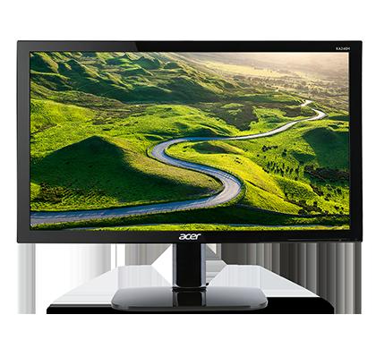 Acer LCD KA240Hbid, 61cm (24'') LED/1920 x 1080/100M:1/5ms/VGA+HDMI+DVI/Black