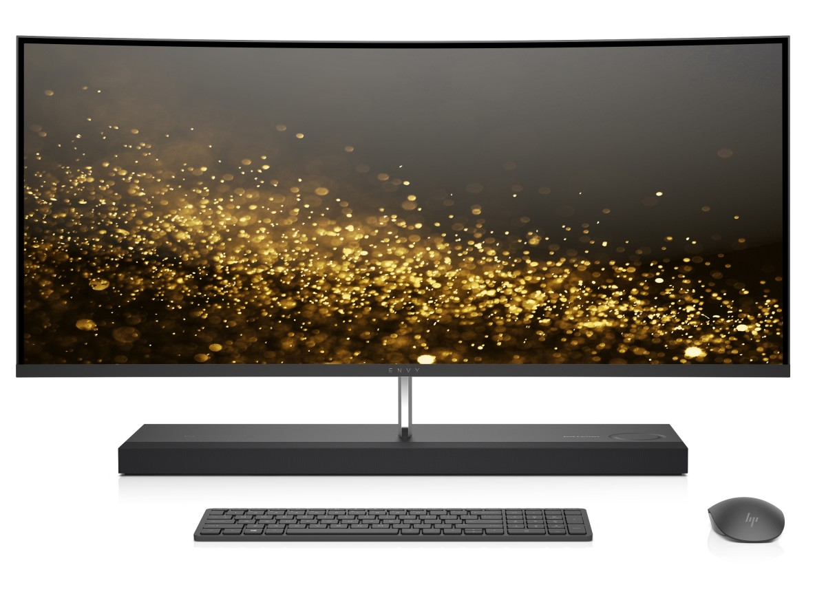 HP PC ENVY All-in-One 34-b050nc 34 QHD IPS LED,i5-7400T,8GB,1TB/7200+256GB SSD,DVD,WiFi,USBkey+mou,GeF GTX 950/4GB,Win10