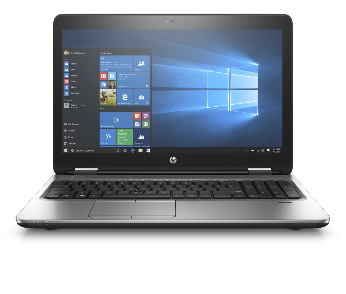 HP ProBook 650 G3 i5-7200U 15.6 FHD CAM, 8GB, 256GB TurboG2, DVDRW, ac, BT, FpR, no backlit keyb, serial port, Win10Pro