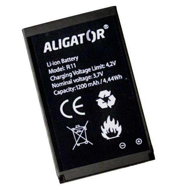Aligator baterie R11 eXtremo Li-Ion 1200mAh bulk