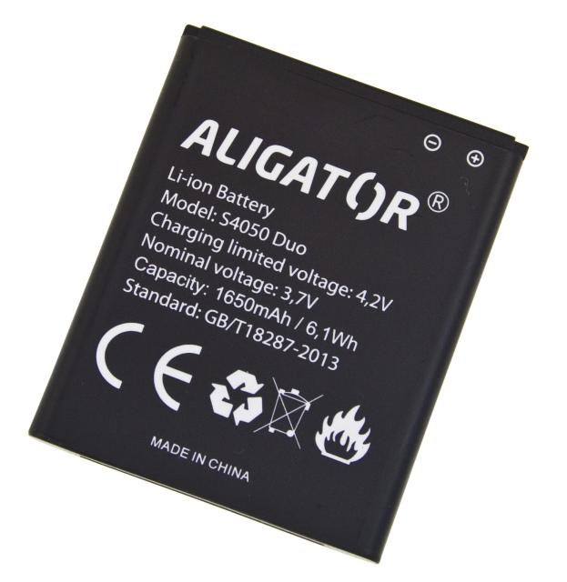 Aligator baterie S4050 DUO, Li-Ion 1650mAh bulk