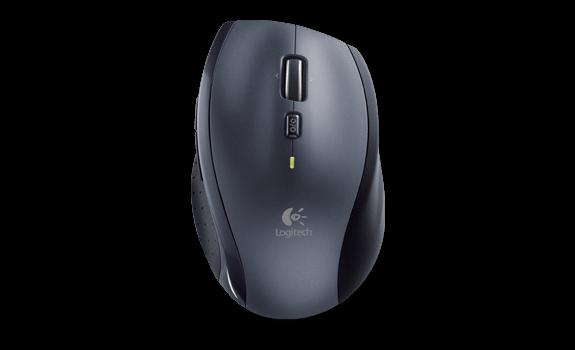 Logitech myš Wireless Mouse M705 Marathon, laserová, 8 tlačítek, černá/šedá