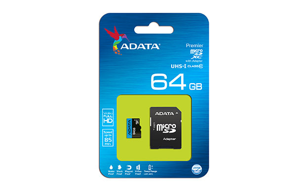 ADATA MicroSDXC 64GB UHS-I 85/25MB/s + adapter