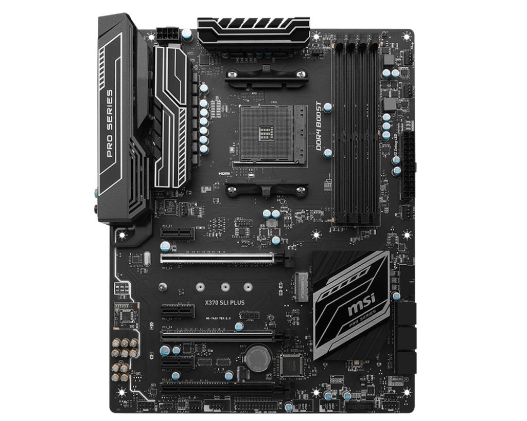 MSI X370 SLI PLUS s.AM4, X370, 3x PCI-E x1, 2x PCI-E x16, 4x DDR4, SATA III, DVI, HDMI, ATX