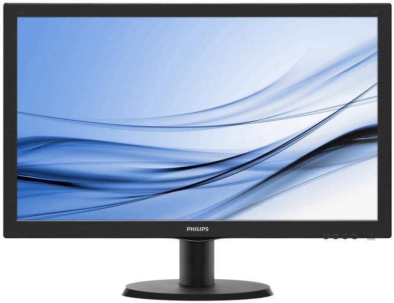 Monitor Philips 243V5LHAB5/00, 24'', TN, Full HD, DVI, D-Sub, HDMI, reproduktory
