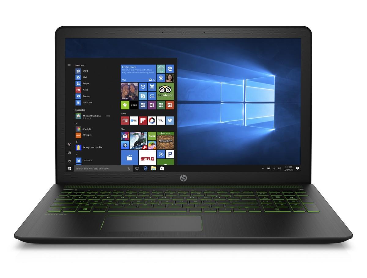 HP Power Pavilion 15-cb005nc, I5-7300HQ, 15.6 FHD/IPS, GTX1050/4GB, 8GB, 256GB SSD, W10, 2y, Shadow black + acid green
