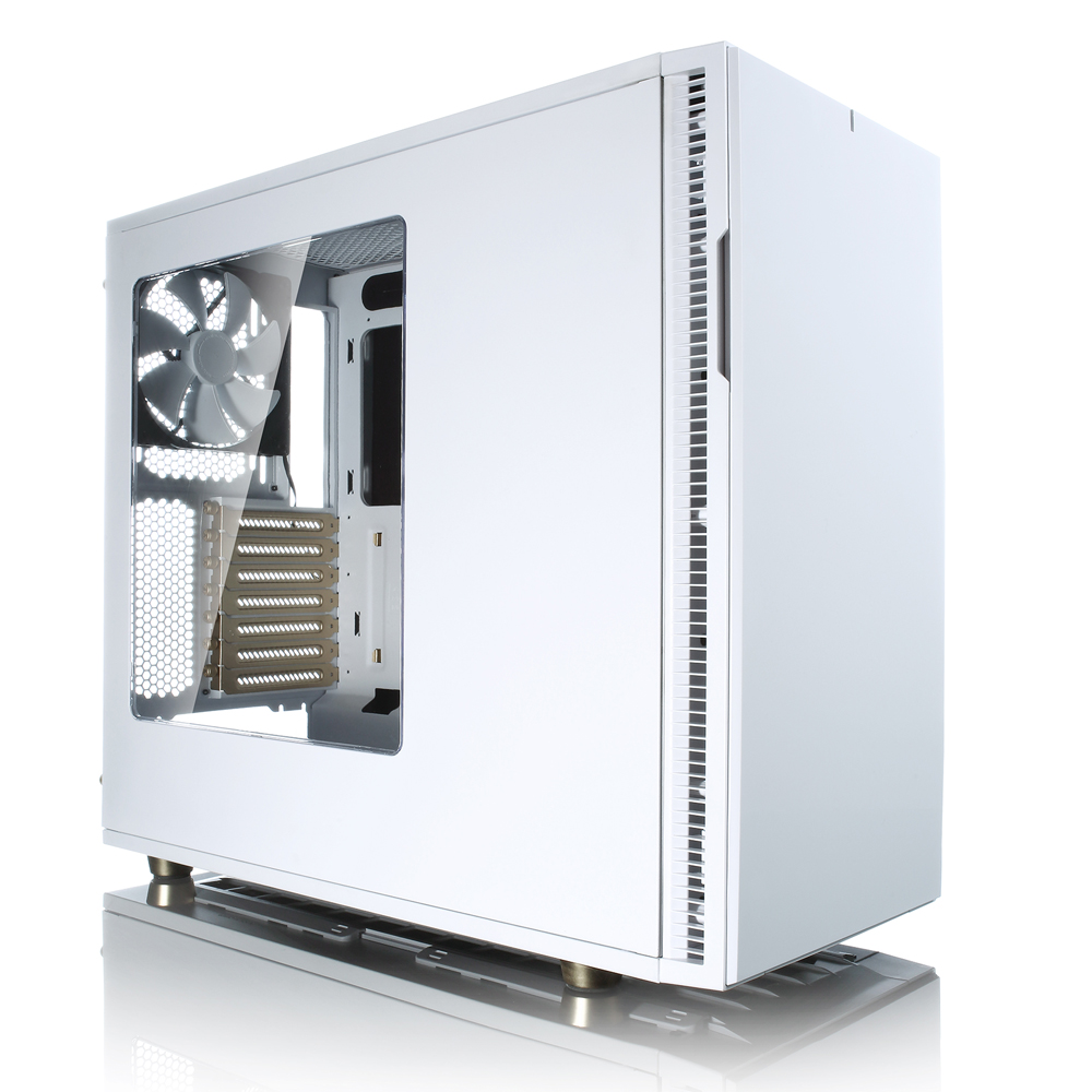 FRACTAL DESIGN skříň DEFINE R5 USB 3.0 Arctic White/Gold, průhledný bok, bez zdroje
