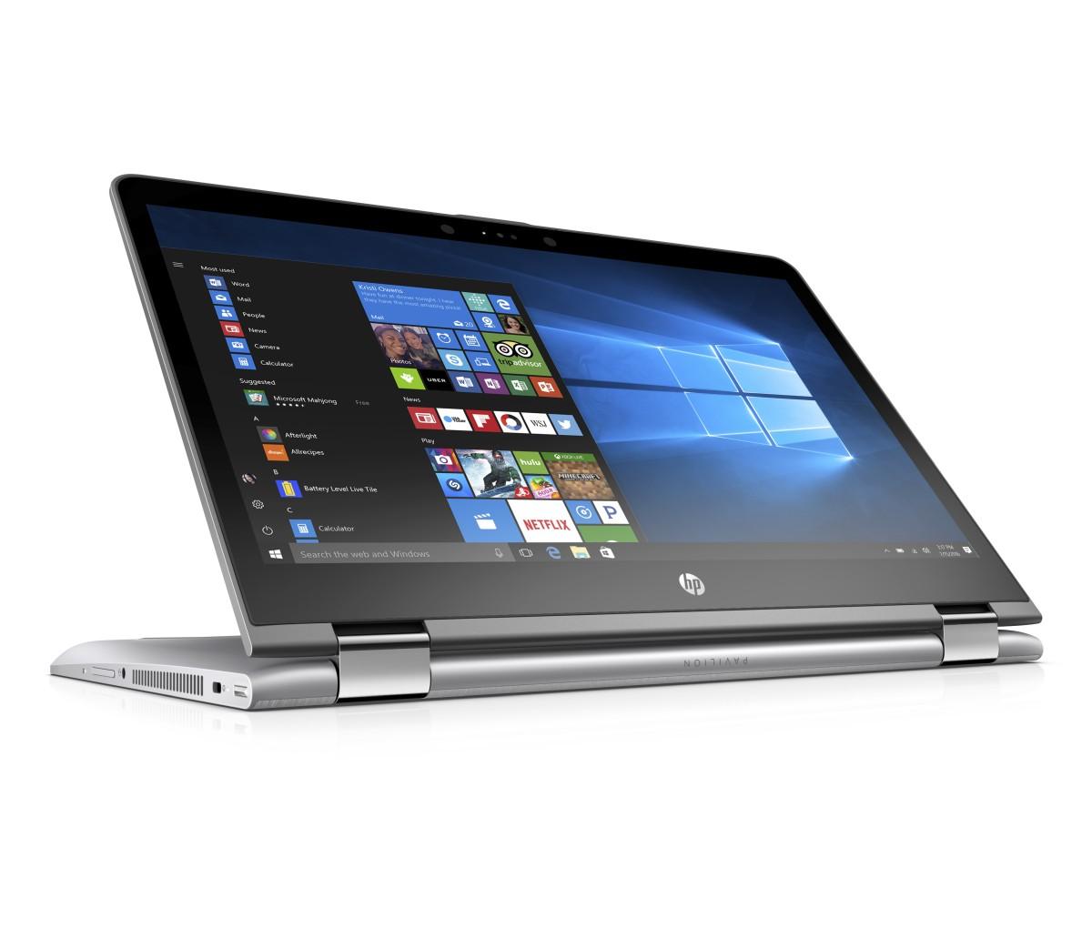 """HP Pavilion x360 14-ba010nc/Intel i5-7200U/8GB/128GB SSD M.2 + 1TB/GF 940MX 2GB/14"""" FHD/Win 10/stříbrný"""
