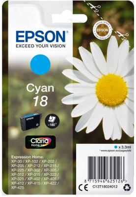 EPSON cartridge T1802 cyan (sedmikráska)
