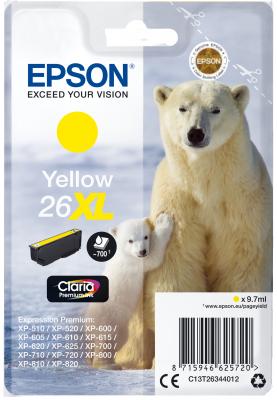 Epson Singlepack Yellow 26XL Claria Premium Ink