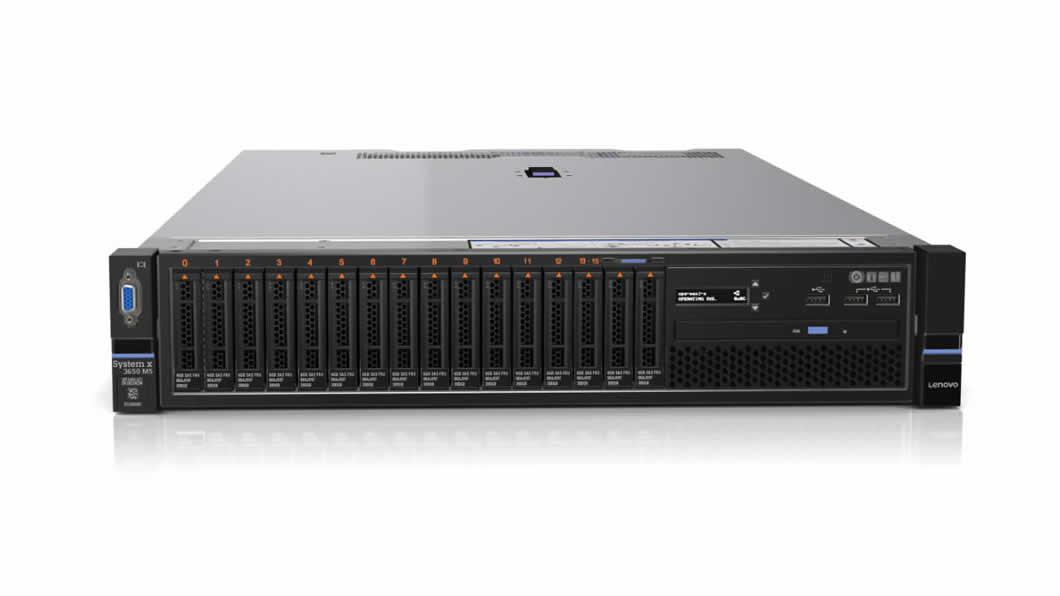 Systemx TS x3650M5 Xeon 8C E5-2620 v4 85W 2.1GHz/2133MHz/20MB, 1x16GB, 0GB 2.5in SAS/SATA(8), M5210, FIO Entry, 750W