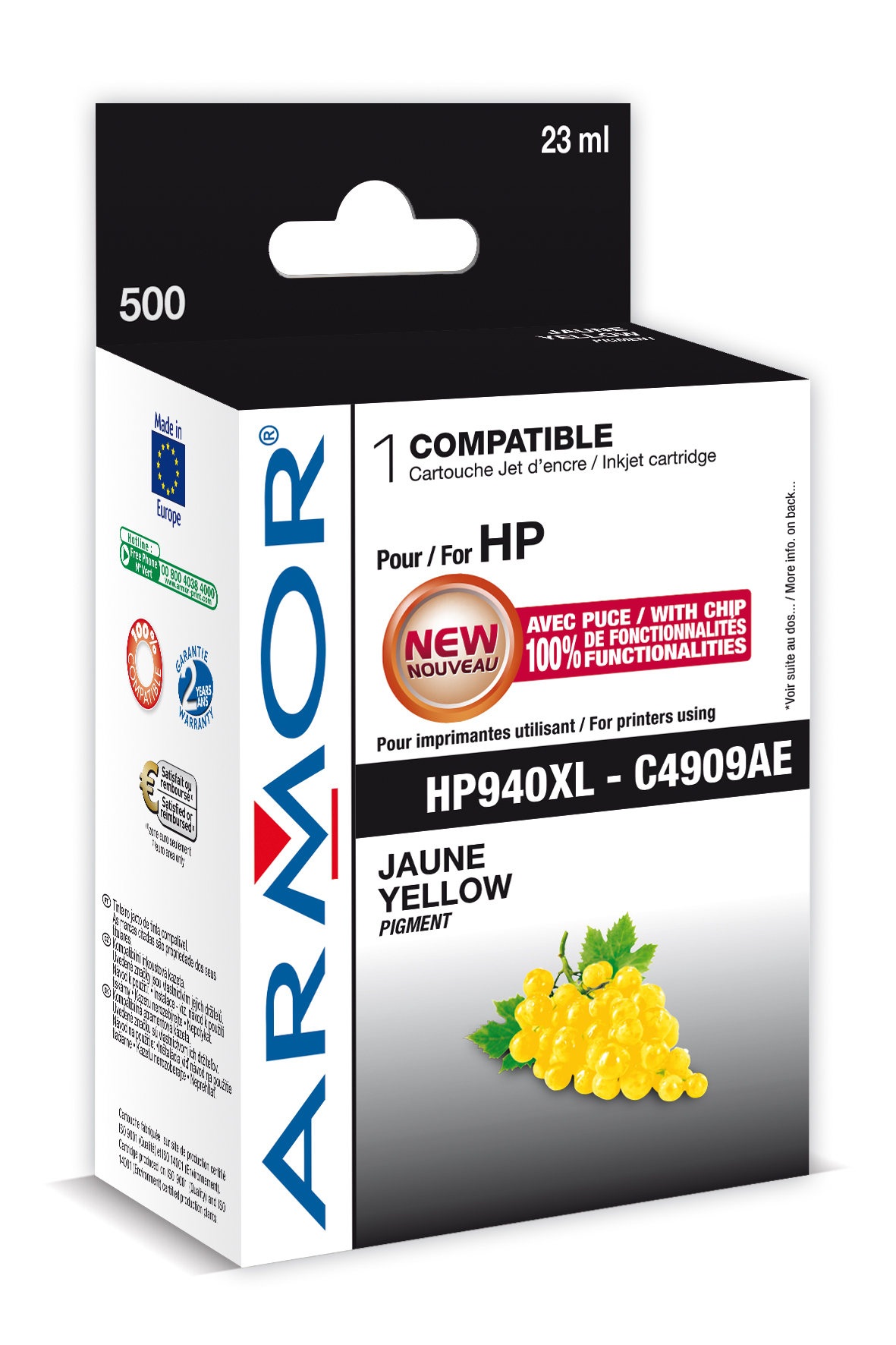Armor ink-jet pro HP OJ 8000 (C4909A), 24ml, Y