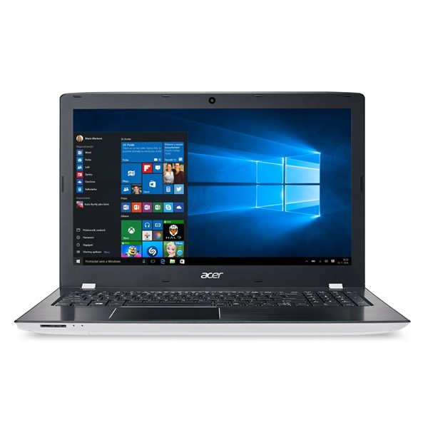 """Acer Aspire E 15 (E5-575-38V7) i3-7100U/4GB+N/128GB SSD M.2+N/DVDRW/HD Graphics/15.6"""" FHD IPS LED matný/BT/W10 Home/White"""
