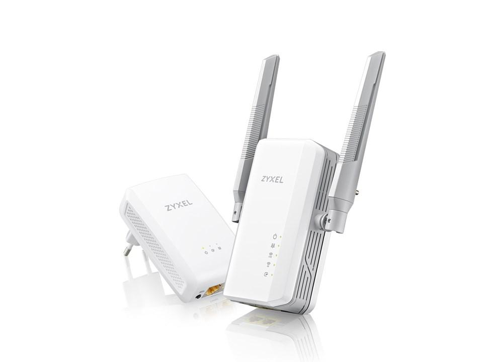 Zyxel PLA5236 Bundle, Bundle PLA5236 Hybrid 1000Mbps Powerline /AC900 Wi-Fi Extender + PLA5206 v2 (1000Mbps Powerline)