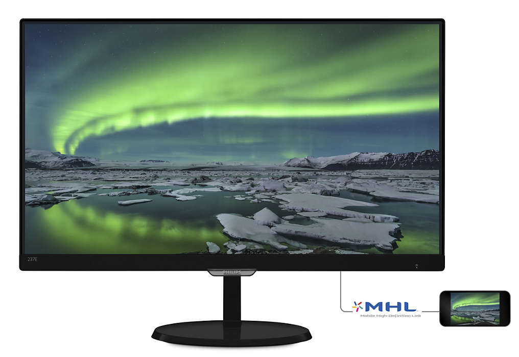 "Philips LCD 237E7QDSB/00 23""wide IPS/LED/1920x1080/20M:1/5ms/VGA/HDMI/DVI"