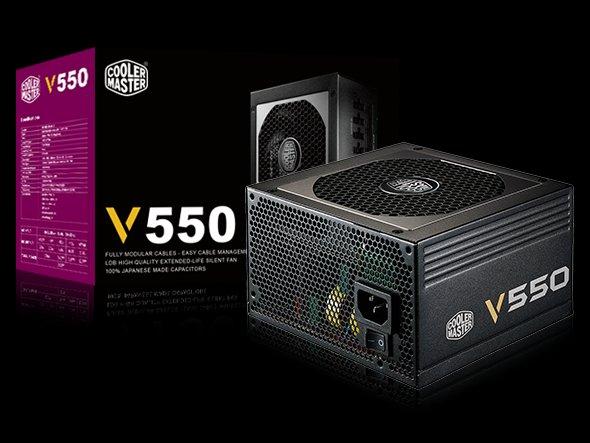 CoolerMaster zdroj Vanquard series 550W PFC v2.31, 12cm fan, 80 Plus Gold, modular