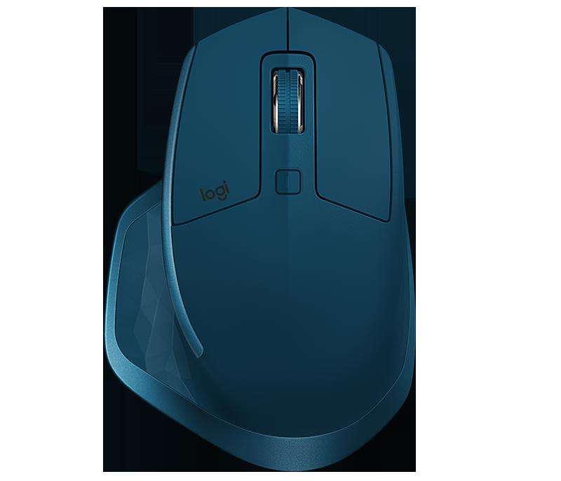 Logitech myš MX Master 2S, Darkfield, laserová, 7 tlačítek, modrá