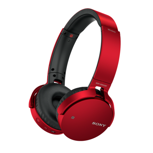 SONY MDR-XB650BT Sluchátka Bluetooth® EXTRA BASS - Red